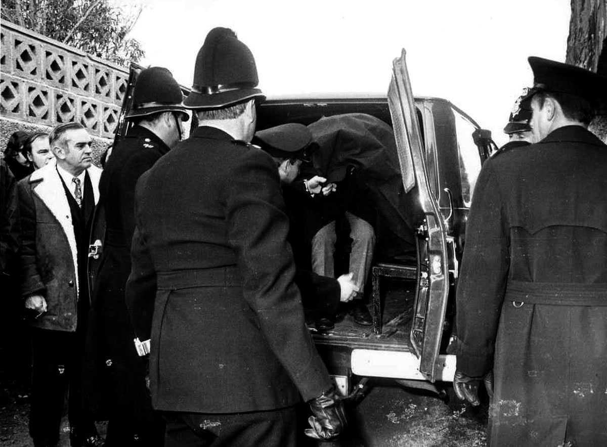 Edward Paisnel caught by the police