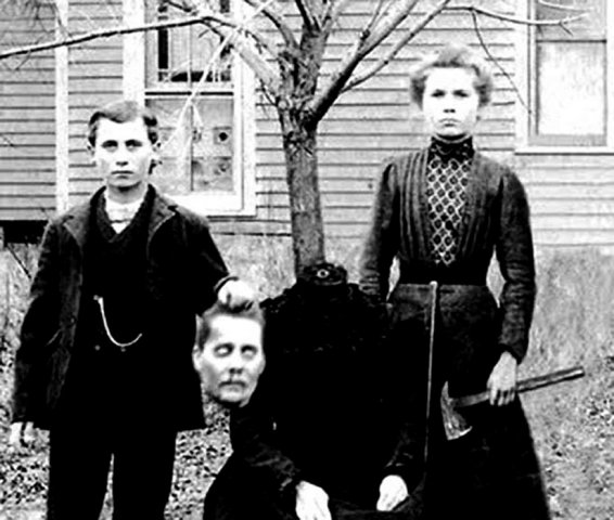 The Buckley Family picture of the beheaded Mother