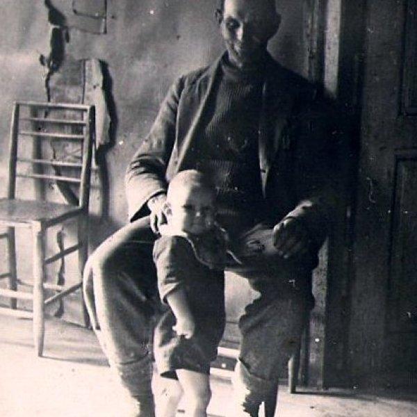insane man and child