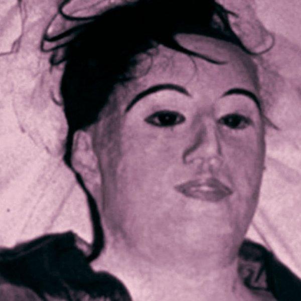 Maria Elena Milagro de Hoyos encased in wax and plaster