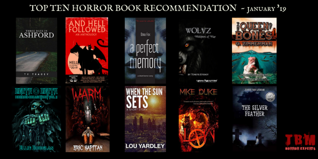 Top Ten Horror Book Recommendation - Januray 2019
