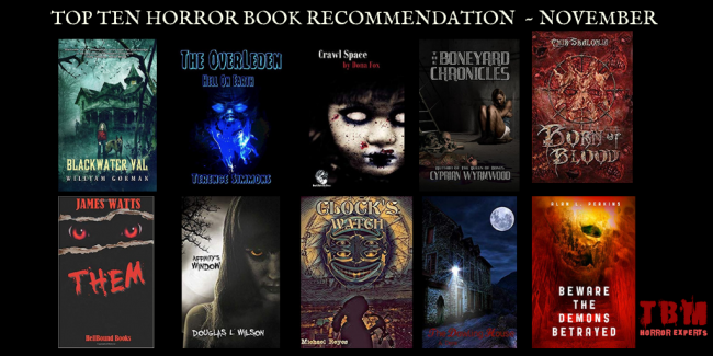 Top Ten Horror Book Recommendation - November
