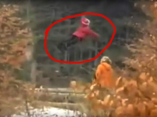 There's a girl flying through the woods outside Moscow