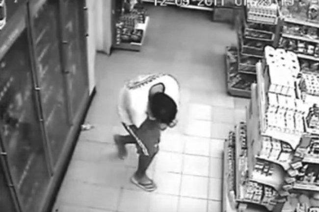 Possessed Man at Supermarket